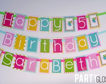 Fairy Birthday Party Banner Decorations Fully Assembled