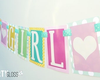 It's a Girl Baby Shower Party Banner Decorations Fully Assembled
