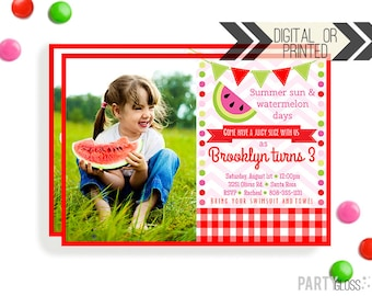 Watermelon Invitation | Watermelon Invites | Digital or Printed | Watermelon Party | Watermelon Printables | Watermelon Decorations