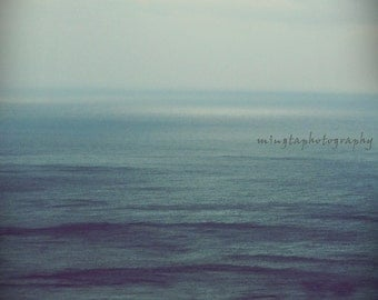 Lontano - As from a distance Seascape ocean sea abstract home decor for her I heart you I calm Happy Valentine color photography