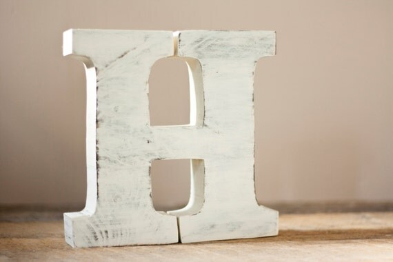 wooden letters free standing distressed wood letters alphabet decor letter h rustic wood decor