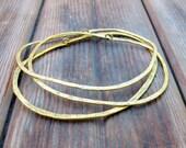 River Rock Bangle Trio - Brass Bangles - Artisan Tangleweeds Jewelry