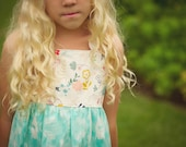 SALE Girl's Dress  - Handmade Chidren's Clothing for Girls - made in Maui, Hawaii USA