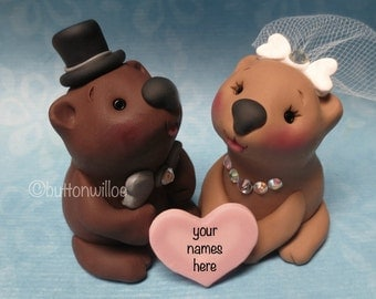 Wombat Wedding Cake Topper Unique Animal READY TO SHIP