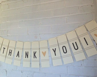 Thank you wedding banner