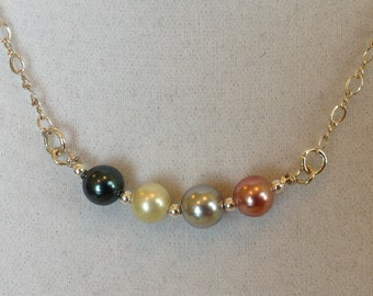 Swarovski crystal pearl necklace with sterling silver.