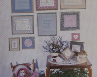 Counted Cross Stitch Patterns/HEARTS and FLOWERS/Multiple Designs/Samplers/1982