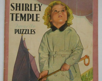 1930s Shirley Temple Favorite Puzzles Saalfield No. 1732-B