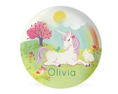 PLATE - Personalized Unicorn plate for kids