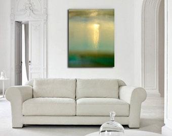 Turner's Cloud, light photography, surreal art, sky photo, surreal blue, green landscape, unique art, large canvas, abstract landscape