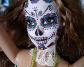 RESERVED custom order sugar skull barbie