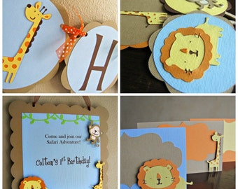 Safari Birthday Party Package, Jungle Birthday Party Package, Safari Birthday Decorations, Jungle Birthday Decoration,Safari Animal Party