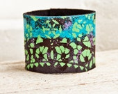 Valentine's Jewelry Leather Cuff Natural Bracelet - 2016 Psychedelic Gypsy Boho Art - Etsy Finds Southwest Earthy Jewellery