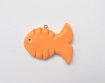 SALE...Personalized Goldfish Christmas Ornament/fish ornament/cyndesminis