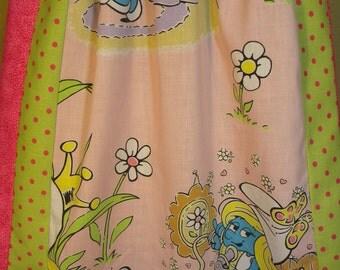 Vintage Smurf Long Hippie Skirt