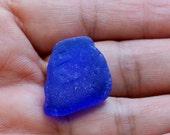 Cobalt Blue Seaglass Bottle Bottom. Phillips. Undrilled. Lot P5.