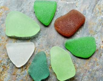 Frosted Seaglass. Teal, Seafoam, Green, White, Brown. Undrilled. Jewelry, Crafts, Mosaics. Lot H9.