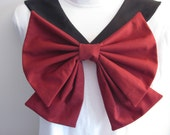 Black Collar and Maroon Bow Sailor Scout Pluto Cosplay Costume