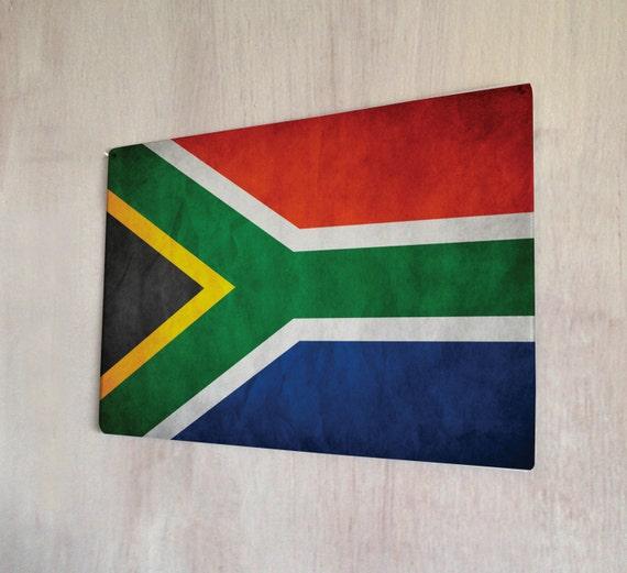 South african flag sign a4 metal plaque picture home deco - Plaque metal deco pour mur ...