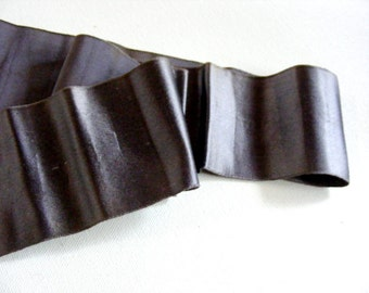 Antique Victorian Era Silk Charmuse Sash Ribbon 2 5/8 Inch Mink Gray