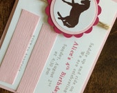RESERVED FOR AMY - Horse Invitations with envelopes