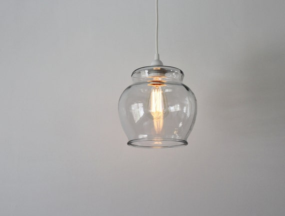 Fish bowl pendant lamp hanging pendant lamp made from a like this item aloadofball Image collections