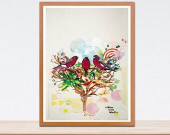 Three Birds  Print