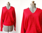 1970's Firecracker Red Alpaca Sweater