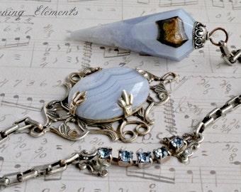 Blue Lace Agate Pendulum