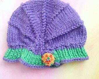 Newborn Baby Cloche Hat