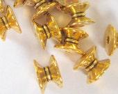 24 Antique gold bead caps double cap diy jewelry findings 5mm 7mm  831Y-X6