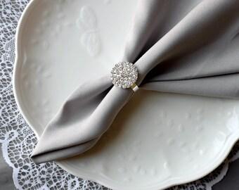 Wedding Napkin Ring Rhinestone Napkin Ring Crystal Napkin Ring Wedding Napkin Holder Wedding Table Decor Diamante NR002