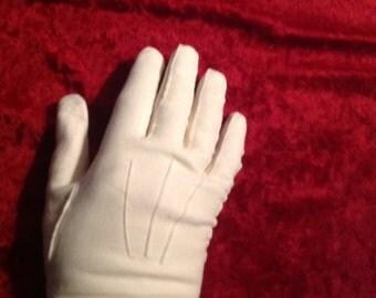 Vintage White Doeskin Gloves (N-1)