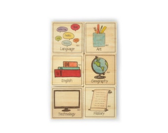 Secondary School Magnet Set of 6 - Homework Magnets - Chore Magnets