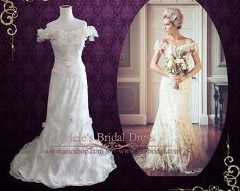 Unique Vintage Style Lace Wedding Dress | Mackenzie