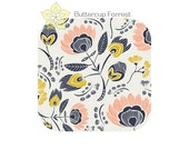 Changing Pad Cover ... { Tule Floras Oasis } peach navy blue floral