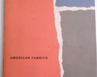 American Fabrics Magazine Lots of Vintage 1950s Fabric Swatches Samples  Issue 20 Winter 1951-52 Fashion Industry Publication Trade Articles