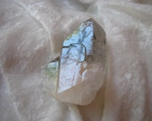 Reserved for darla - Lodolite Quartz Crystal  Elestial Twin Point with Moss/ Chlorite & Hemitite Inclusions Altar Crystal/ Reiki Healing