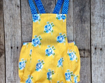 Flower sunsuit vintage inspired