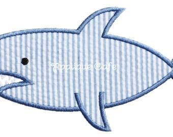 593 Shark Machine Embroidery Applique Design