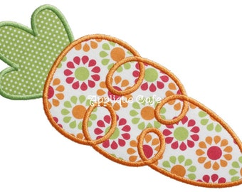 612 Loopy Carrot 2 Machine Embroidery Applique Design