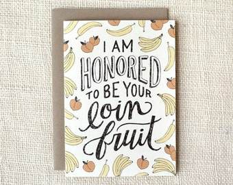 Funny Mother's Day Card, Father's Day Card - Loin Fruit