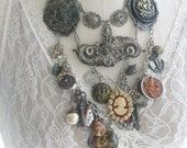 Statement Charm Necklace-Bountiful Chest of High Seas Treasure-Steampunk Altered Reused Nautical