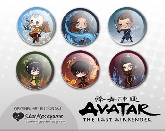 Avatar The Last Airbender Button Set