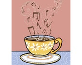 Coffee of the Day with Notes of Chocolate and Caramel Mini Print