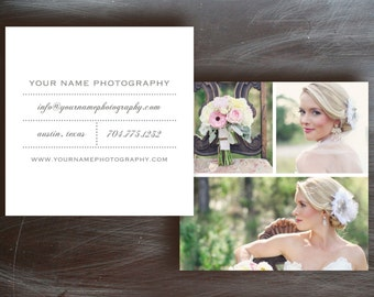 Square Business Cards Template for Moo - Photo Marketing Business Card Design - INSTANT DOWNLOAD - b0043