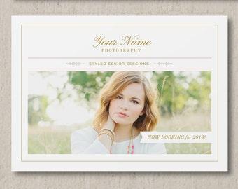 Mini Session Template - Graduation Cards - Senior Photography Marketing Templates - Photoshop Templates for Photographers - g0012