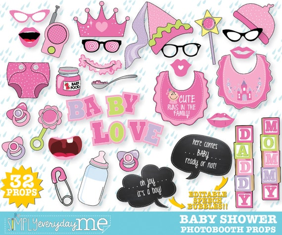 baby shower photo booth props oh baby reveal baby shower bun in