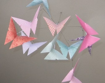 Butterfly Mobile 'Patterned Whimsy ', Baby Mobile, Baby Shower Gift, Nursery Decor, Butterfly Decor, Origami Butterfly, Paper Mobile