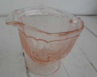 Vintage Mayfair Pink Depression Glass Creamer